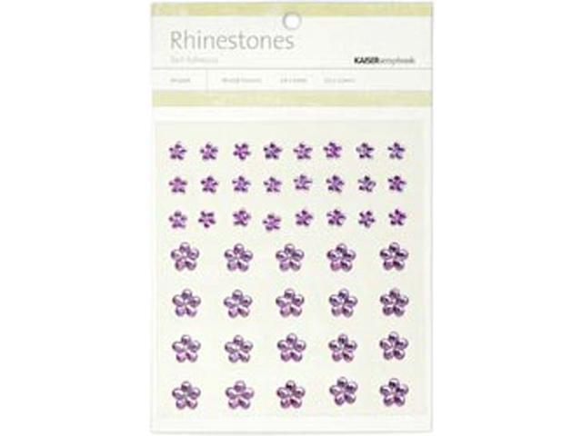 Self-Adhesive Flower Rhinestones 44/Pkg-Lilac