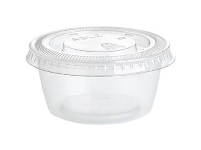Clear Plastic Gelatin Shot Cups W/Lids 2 Ounces 25/Pkg-