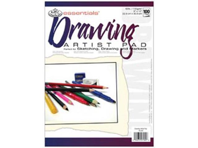 "Essentials Artist Paper Pad 9""X12""-Drawing-100 Sheets"