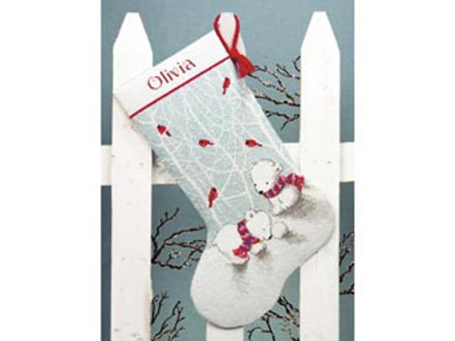 Snow Bears Stocking Counted Cross Stitch Kit-16