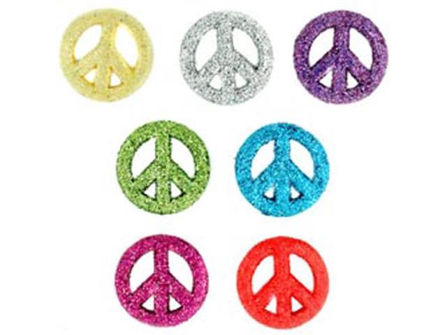 Dress It Up Embellishments-Glitter Peace Signs