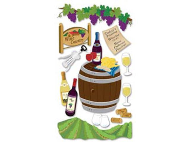 Jolee's Boutique Le Grande Dimensional Sticker-Wine Country