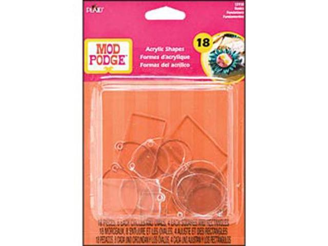 Mod Podge 3D Shapes-Basics Flat & Charms 18/Pkg