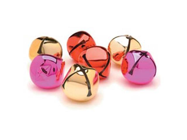 Jingle Bells 35mm 8/Pkg-Gold/Red/Pink