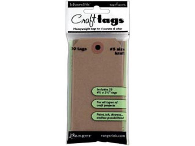 Inkssentials Brown Kraft Surfaces 20/Pkg-Tag #5 4.5