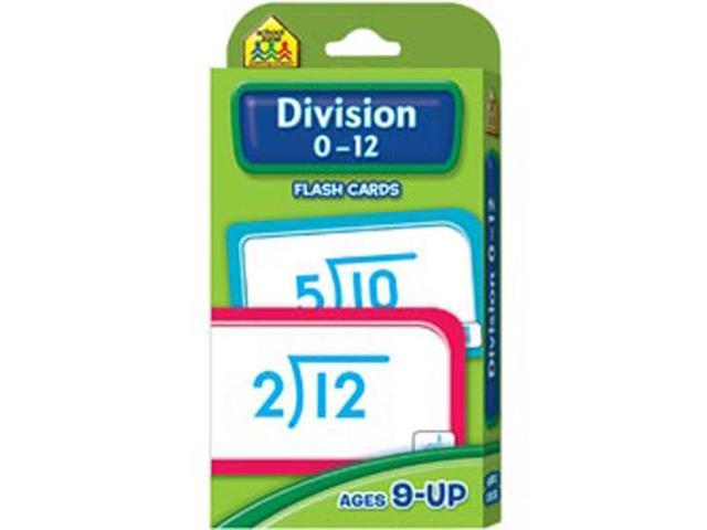 Flash Cards-Division 0-12 52/Pkg
