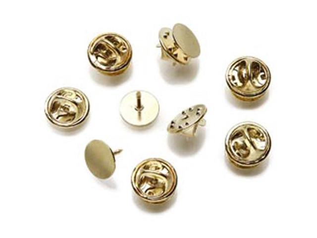 Brass Tietack W/Clutch Brass Plate 12/Pkg-