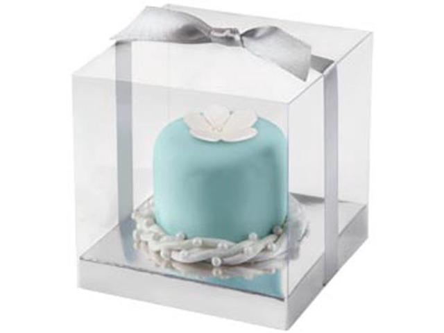Cupcake Box 20/Pkg-Clear/Silver