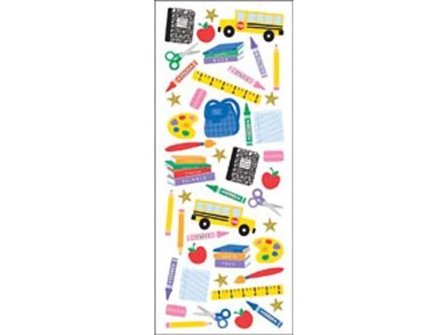 Puffy Classic Stickers-Time For School