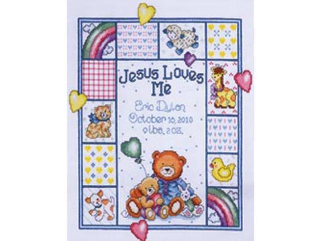 Jesus Loves Me Sampler Counted Cross Stitch Kit-11