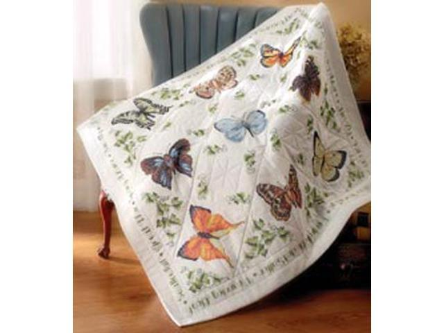 Stamped Cross Stitch Lap Quilt 45