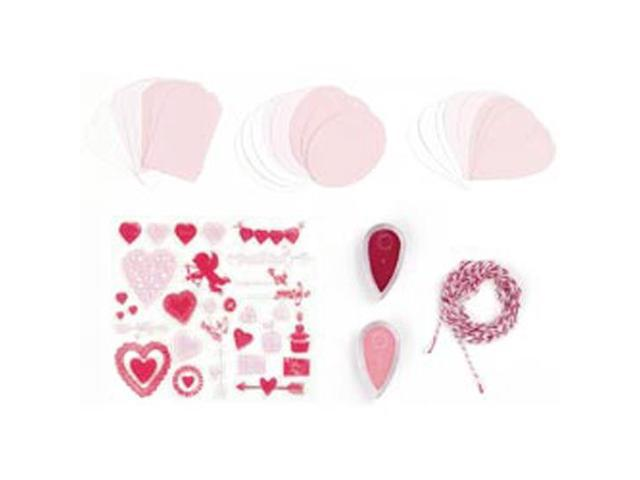 Martha Stewart Valentine Stamp and Ink Set With Tags-