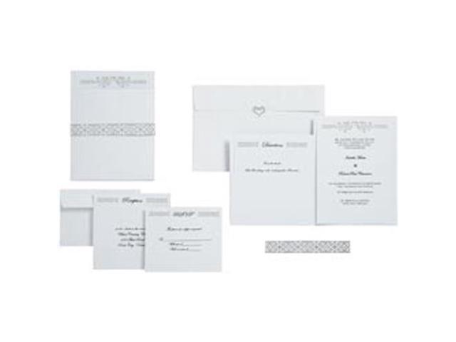Heart Wedding Pocket Invitation Kit-