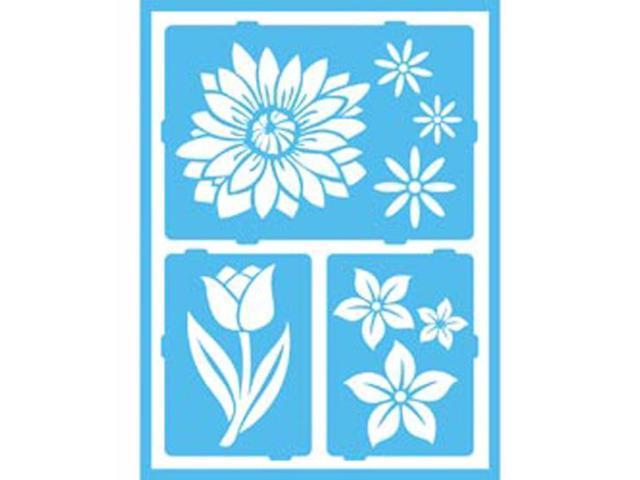 Gloss Enamels Stencils-Floral Breeze