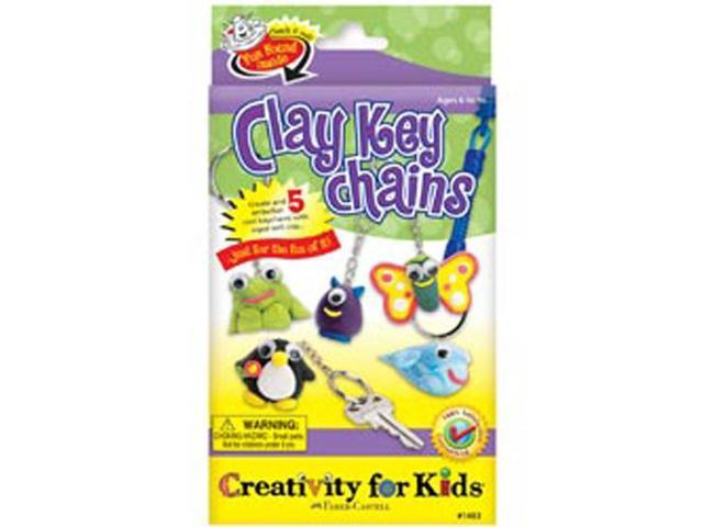 Creativity For Kids Activity Kits-Clay Key Chains (makes 5)