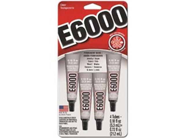 E-6000 Multi-Purpose Adhesive .18ounces 4/Pkg-
