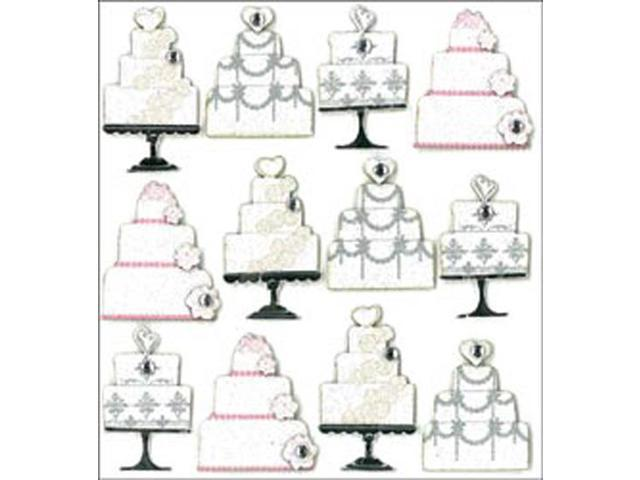 Jolee's Mini Repeats Stickers-Wedding Cake