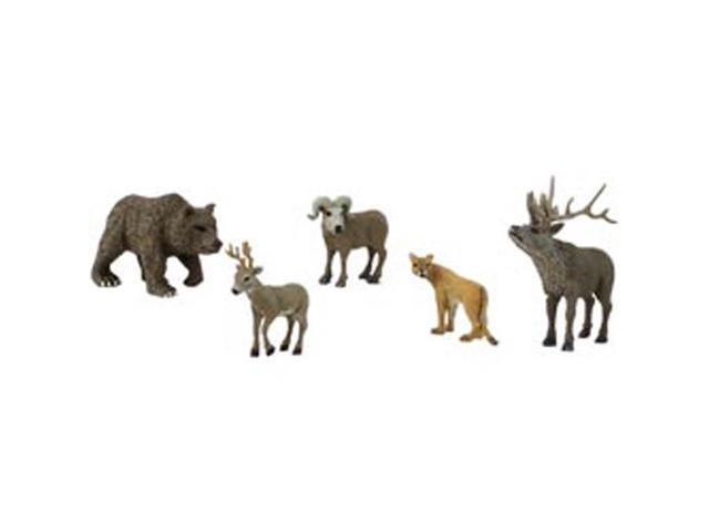 North American Wildlife Figurines 5/Pkg-