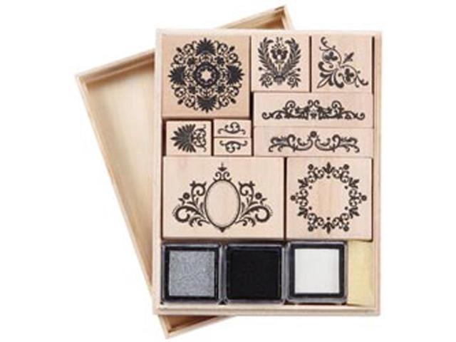 Martha Stewart Mounted Stamp Set-Flourish