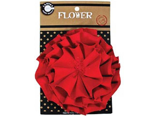 Canvas Flower-Red