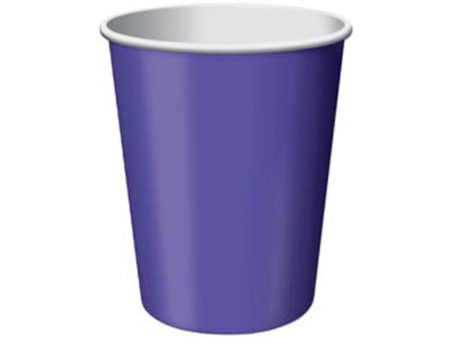 Paper Hot & Cold Cups 9 Ounces 24/Pkg-Purple