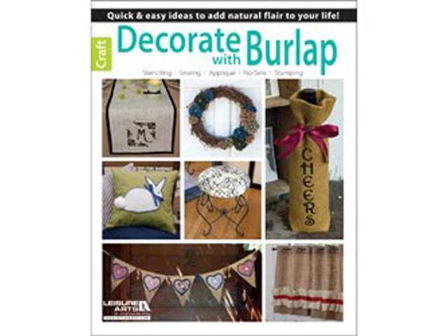 Leisure Arts-Decorate With Burlap