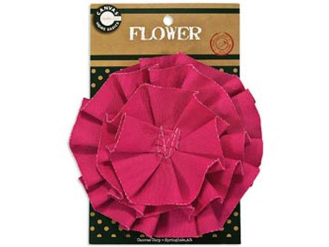 Canvas Flower-Hot Pink