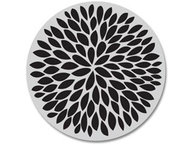 Hero Arts Cling Stamps-Small Solid Flower