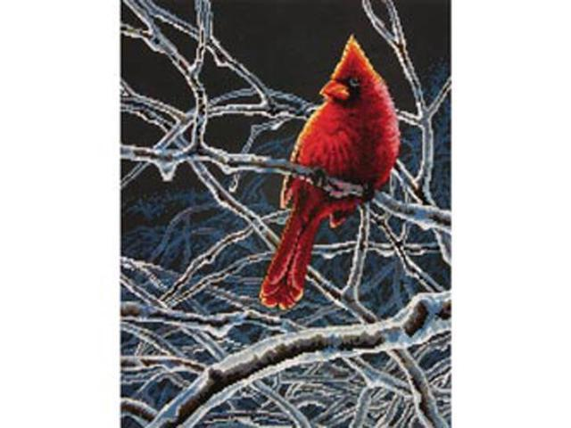 Ice Cardinal Counted Cross Stitch Kit-11