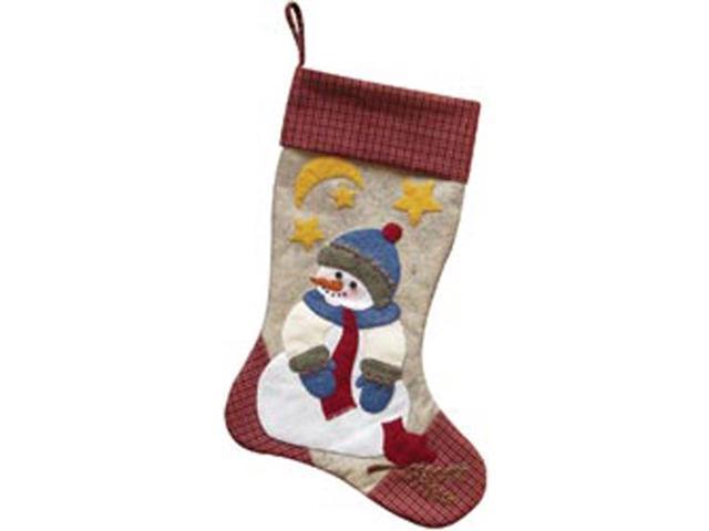 Snowman Stocking Woolfelt Applique Kit-10