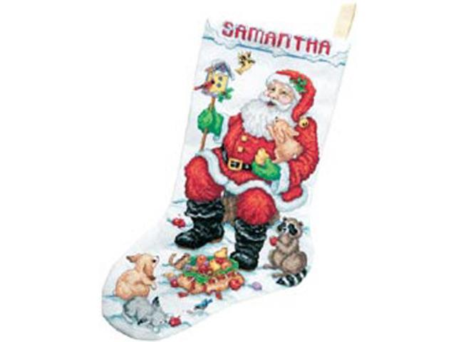 Santa & Animals Stocking Counted Cross Stitch Kit-18