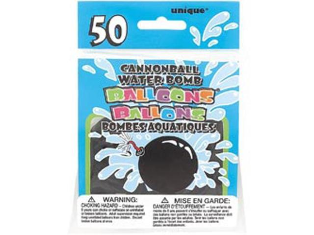 Cannonball Water Bomb Balloons 50/Pkg-Black