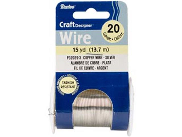 20 Gauge Beading Wire 15 Yards-Silver Colored Copper Wire