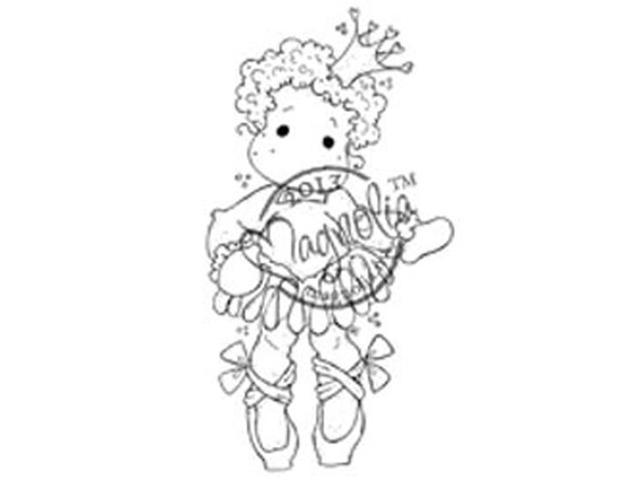 Once Upon A Time Cling Stamp-Princess Tilda With Ballet Shoes