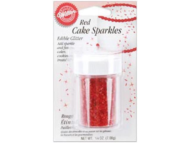 Cake Sparkles .25 Ounce-Red
