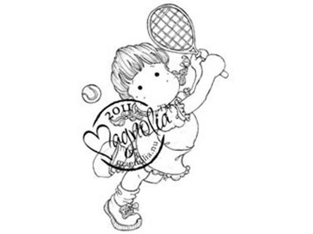 The Winner Takes It All Cling Stamp-Tennis Tilda