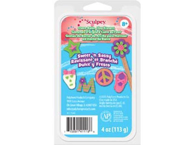Sculpey Eraser Clay Set 1 Ounce 4/Pkg-Sweet 'n Sassy