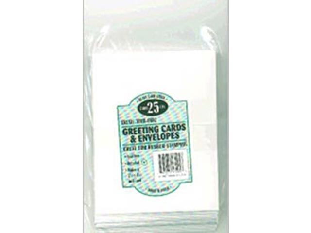 Greeting Cards & Envelopes 25 Sets/Pkg-White, 5.25