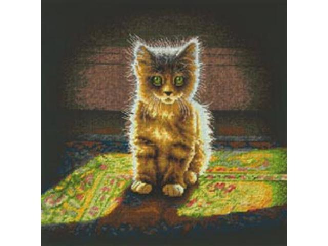Warm And Fuzzy Kitten Counted Cross Stitch Kit-12