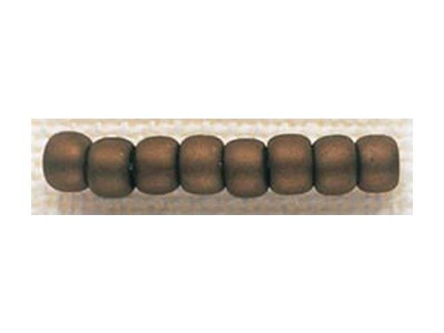 Mill Hill Glass Beads Size 6/0 4mm 5.2 Grams/Pkg-Antique Mocha