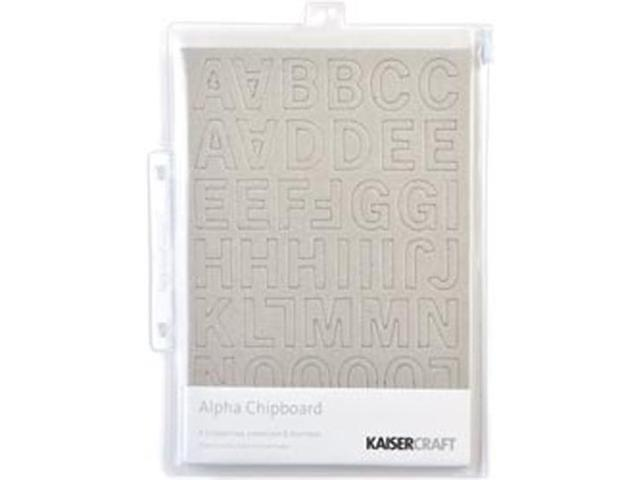 Chipboard Alpha #2 3 Sheets/Pkg-Uppercase, Lowercase & Numbers