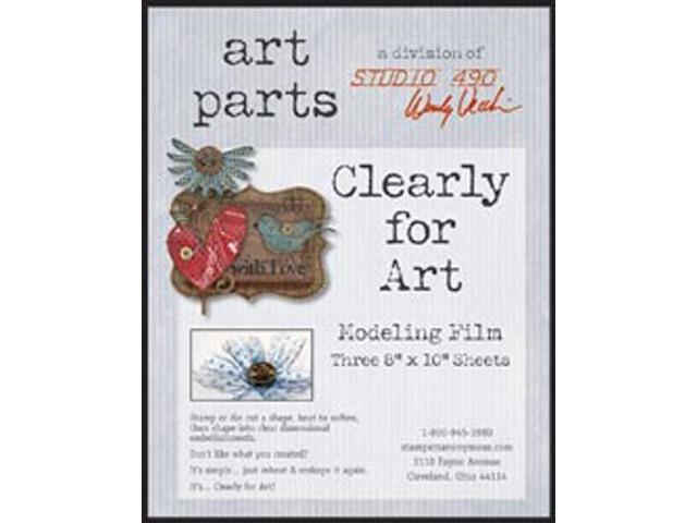 Wendy Vecchi Clearly For Art Modeling Film Sheets 3/Pkg-Clear, 8