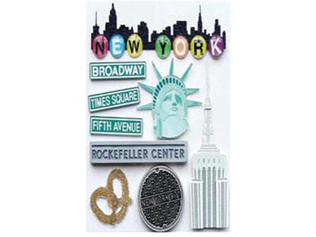 Jolee's Boutique Dimensional Destination Stickers-New York