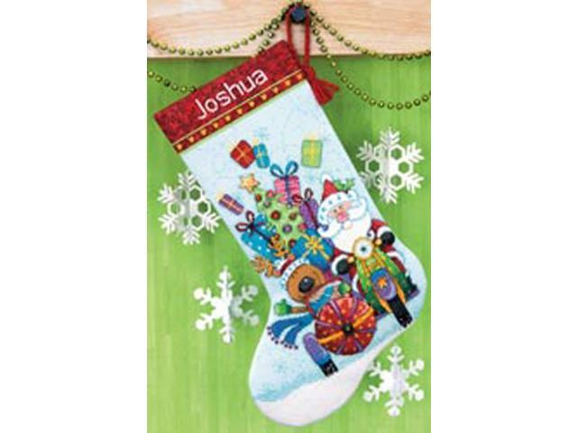 Santa's Sidecar Stocking Counted Cross Stitch Kit-13