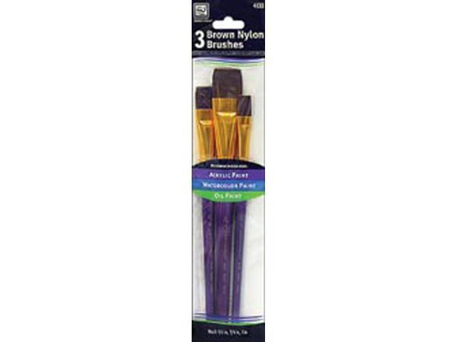 Brown Nylon Brush Set-3/Pkg