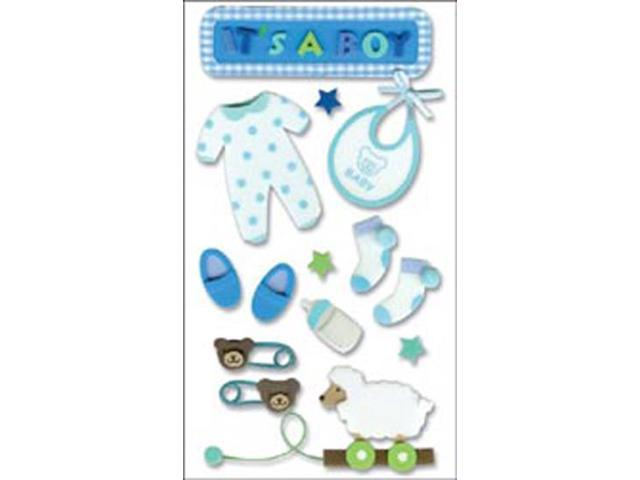 Jolee's Boutique Dimensional Foam Sticker-Baby Boy