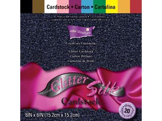 Core'dinations Glitter Silk Cardstock Pack 6