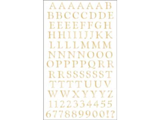 Mrs. Grossman's Stickers-Classic Alphabet Gold