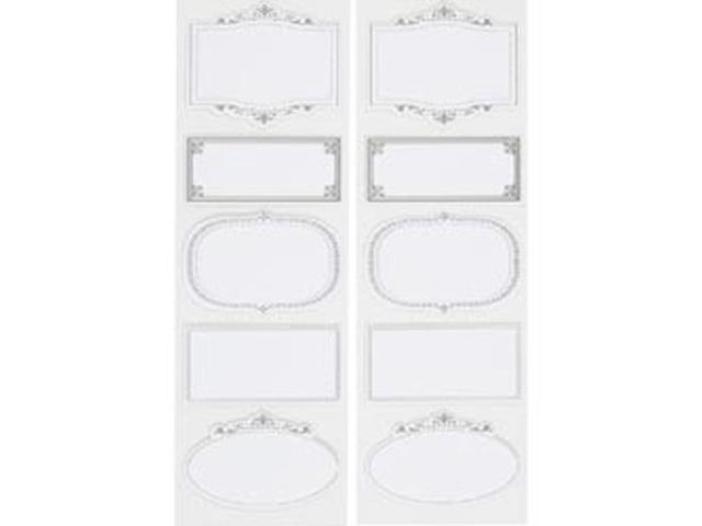 Martha Stewart Stickers-Ornate Frame Labels