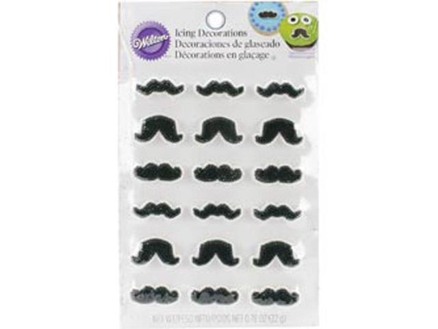 Royal Icing Decorations 18/Pkg-Mustache Shapes